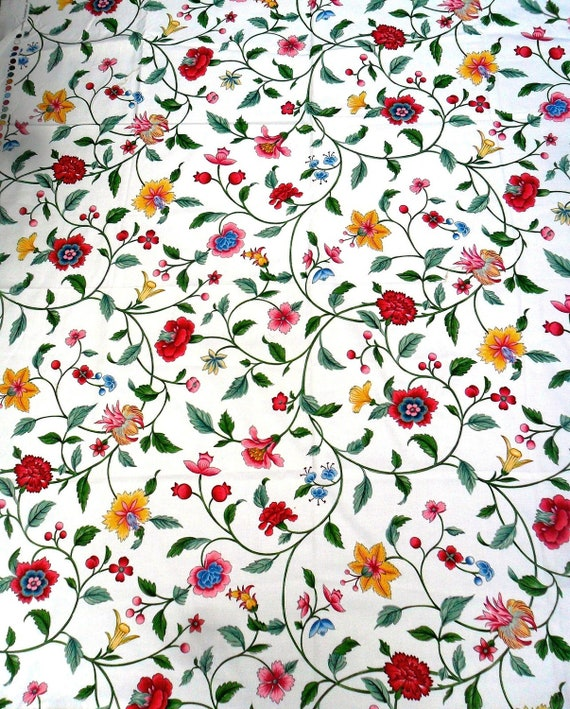 "Schumacher OOP Colonial Williamsburg Foundation ""Imperial Vine""  Cotton Fabric 1.5 yds"