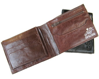 Men's Handmade Leather Wallet, Men's Leather Wallet, Genuine Leather Wallet, Credit Card Wallet, Gift For Him - in CHOCOLATE BROWN (No. 314)