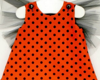 Baby and Toddler Lady Bug Costume and Floral Head band - 2 Piece Set