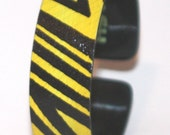 Yellow and Black Zebra Skinny Bracelet LUCY by House of Smash
