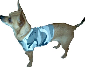 Gray Camo Dog Shirt - Available in 4 Sizes - Great Quality - Happiness Guaranteed :)
