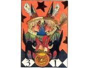 ACEO Halloween Original Mixed Media Art Paper