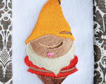 Gnome 2, INSTANT DIGITAL DOWNLOAD, Embroidery Design for Machine Embroidery 4x4
