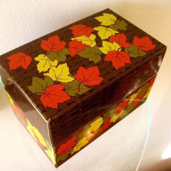 Items Similar To Vintage Recipe Box Card Box Metal