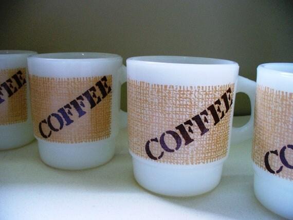 Fire King Coffee Mug Set Anchor Hocking Vintage