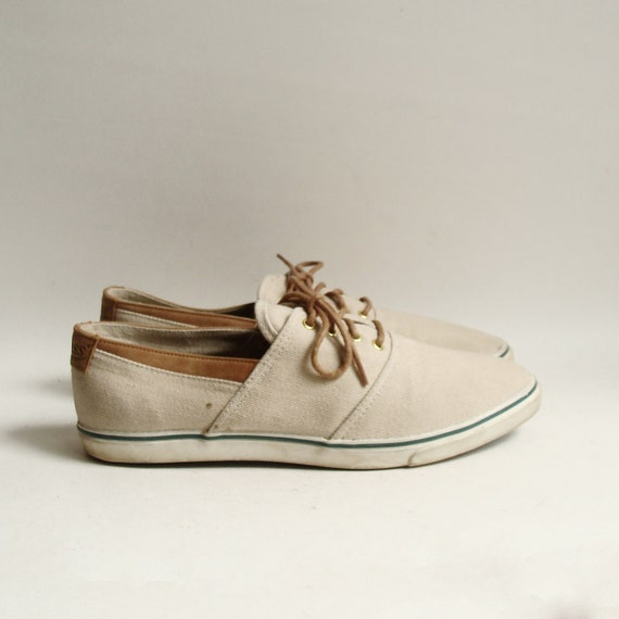 shoes 9 bass canvas boat shoes preppy by