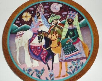 1982 Following The Star. Heidi Keller Christmas Scenes Decorative Plate