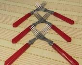 Bakelite Flatware Forks,  Set of 6 Vintage 1940's or 1950's