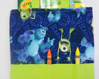 Monsters Inc Crayon Tote