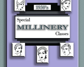 1930s Special Millinery Course How to make Art Deco Hats PDF book
