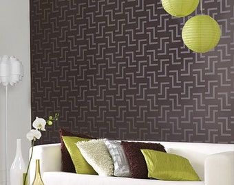 Zulu Allover Stencil - Large scale - reusable stencil patterns for walls just like wallpaper - DIY decor
