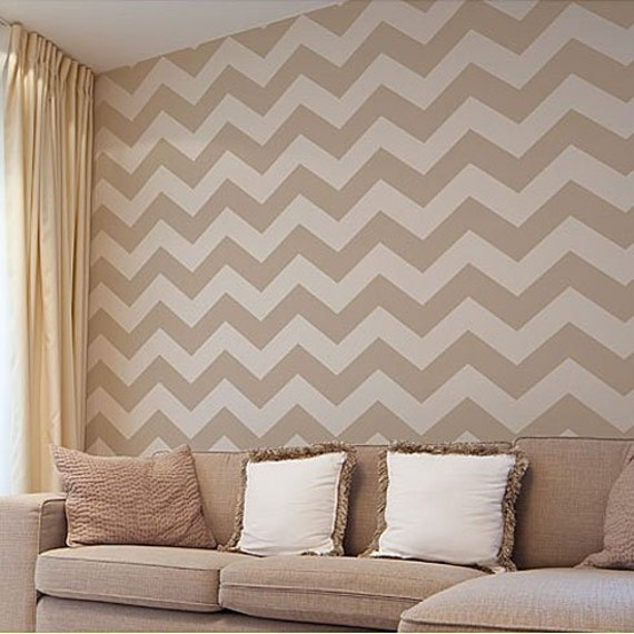 chevron template for walls - chevron allover stencil small scale reusable stencil