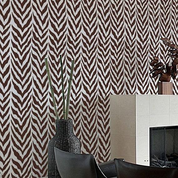 Zebra stripe allover stencil reusable by cuttingedgestencils for Diy room decor zebra