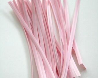 Baby Pink Solid Color Twist Ties - set of 25