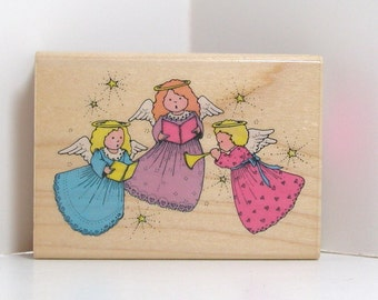 Hero Arts ANGEL TRIO Rubber Stamp