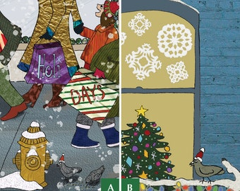 Christmas Cards Multi-Pack - 12 Cards - Choose Your Favorites - Holiday Greetings