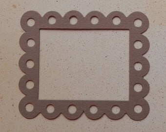 4 scalloped eyelet frame - die cuts