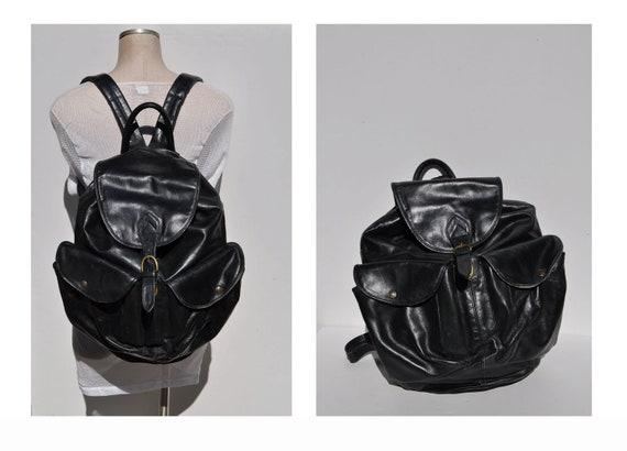 RESERVED leather backpack huge vintage LEATHER BACKPACK tote rucksack back pack ruck sack