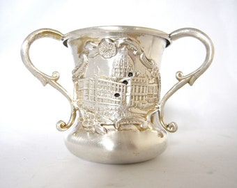 Antique Toothpick Holder, Souvenir of State Capitol, St. Paul Minn. by Apollo Silver Co.