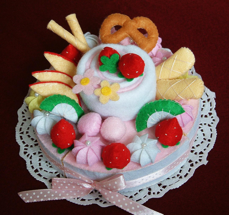 DIY Felt Fruit Cake Double Layer Cake PDF Pattern And