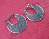 Awesome 0.75 inch Silver Hoop Earrings Balinese Simply Style / silver 925 / Bali Handmade Jewelry
