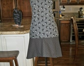 Ladies Apron in Butterflies and Dots