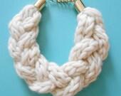 Triple Knit Braid Necklace