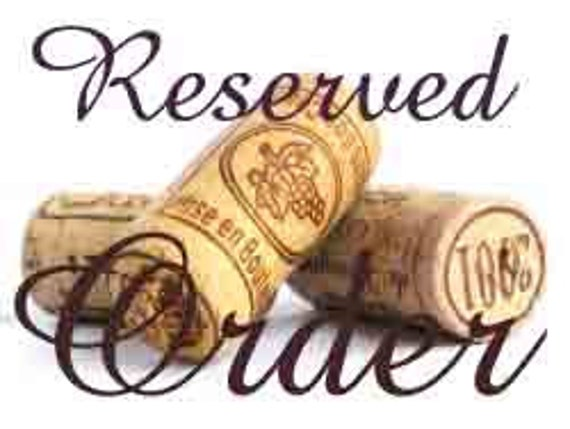 Reserved for rundeerrun OU wine cork ornament/bottle tag/ornament