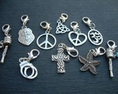 Lobster Clasp Charms, 3 for 11.99 , Pendants,  Assorted  Three Pieces, Charms, Womens Jewelry