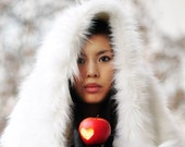 White Faux Fur Wrap Shawl / Snow White in Winter Wonderland Fairytale