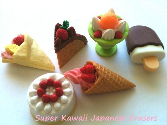 Super Kawaii Japanese  Erasers (6pc) A