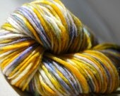 Hand-dyed Wool Yarn in Sólya - Hand-Painted - OOAK - Aran Bulky Chunky Worsted Weight - 180 yards