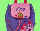 Personalized Child's Stephen Joseph Backpack PRINCESS CASTLE  Style-Monogramming Included
