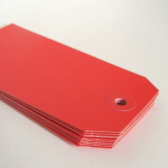 Red Tags - Labels - Cardstock Tags
