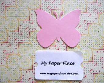 50 Light Pink Butterfly Die Cuts- 2 inch cardstock-  Free Secondary Shipping