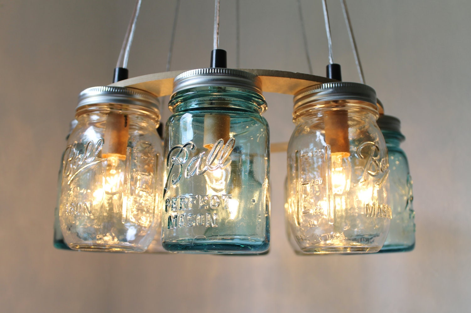 mason jar chandelier beach house mason jar lighting fixture. Black Bedroom Furniture Sets. Home Design Ideas