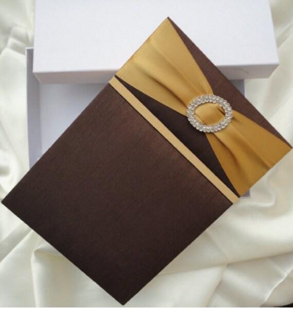 Silk Or Satin Invitation Box With Satin Ribbon By ECRDesigns