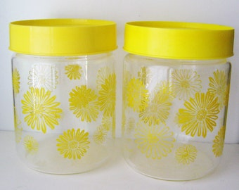 Sunny Yellow Daisy Canisters
