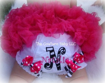 Zebra Couture Boutique Bow Diaper Cover  BLOOMERS