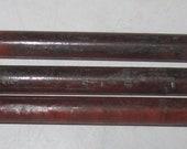Vintage Bakelite Catalin Round Rods  in Tortoise color