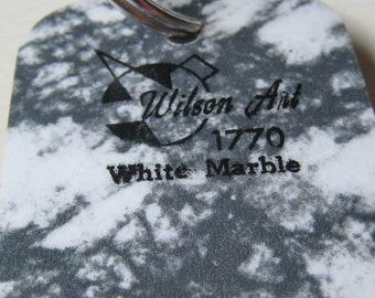 Wilson Art Laminate Sample Key Ring White Marble