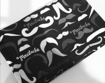 Swaddling Blanket - Mustaches- X-Large - Ultra SOFT