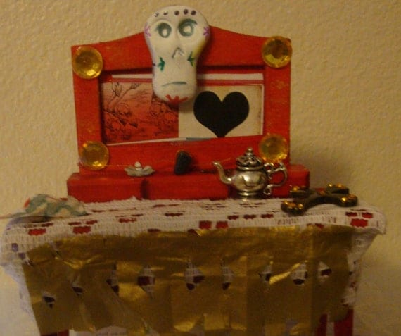 mini Day of the Dead table top shrine