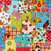 Last Piece, Japanese, Panda and Elephant Patchwork - Blue, 13 X 44 inches