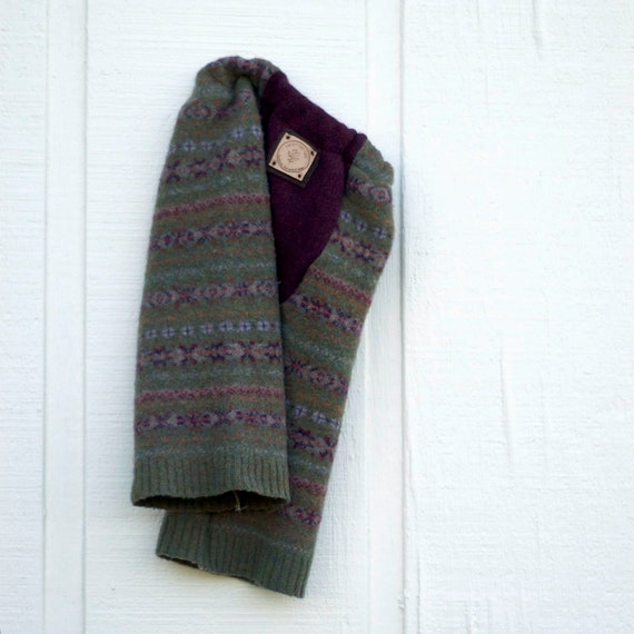 Upcycled Wool Longies - Cloth Diaper Pants - Green - Medium 6-12 months