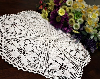 Daisy Flower  Crochet Doily
