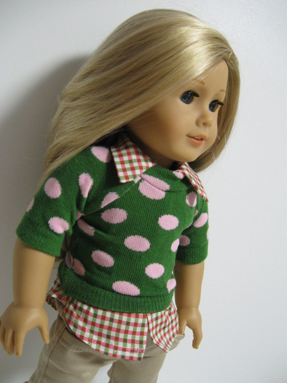 American Girl Doll -Ready for Fall 3pc green