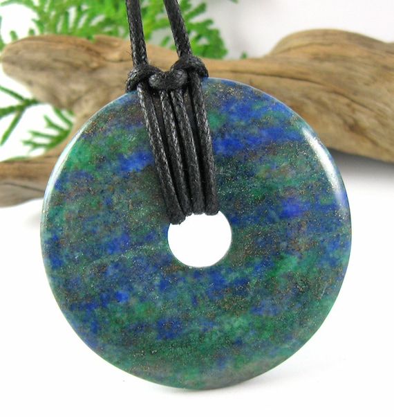 Gaia Nursing Necklace - 50mm Lapis Lazuli & Chrysocolla Mommy Necklace