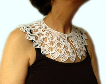PDF Tutorial  Crochet Pattern... Lace Peter Pan Collar - 1