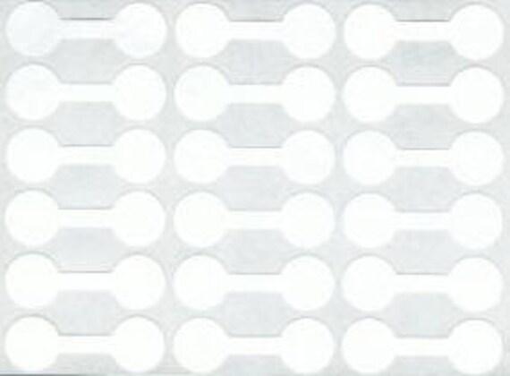 96pc White jewelry price tag sticker 12mm (421)